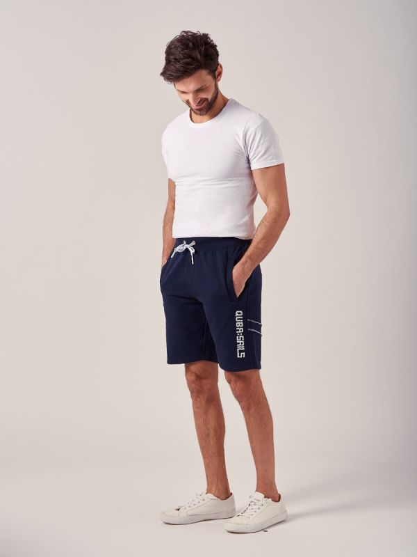 Whittle NAVY X-Series Fleece Shorts   Quba & Co