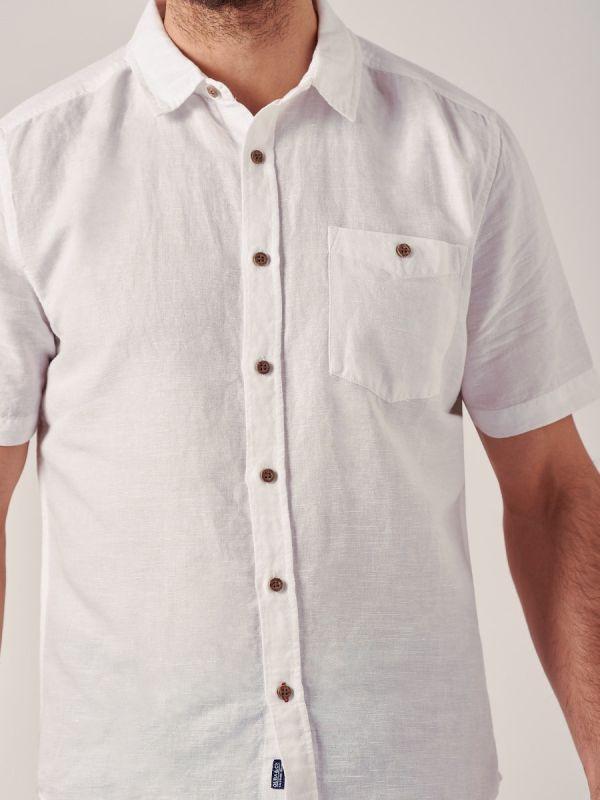 Windsor WHITE Linen Shirt | Quba & Co