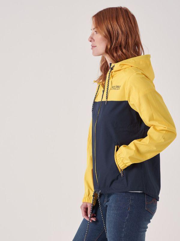 Wisteria X-Series NAVY YELLOW Showerproof Jacket   Quba & Co