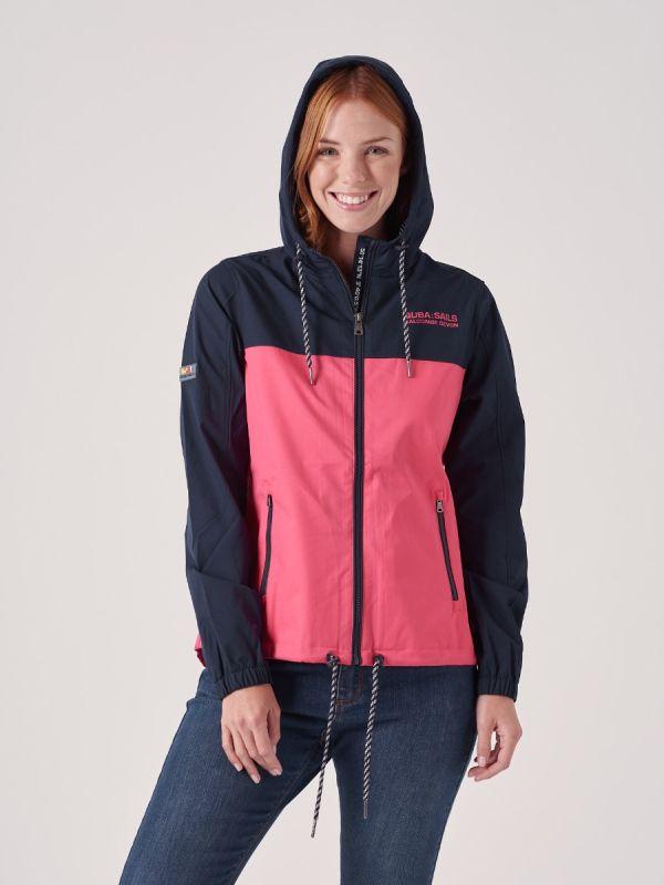 Wisteria X-Series PINK PEACH NAVY Showerproof Jacket | Quba & Co