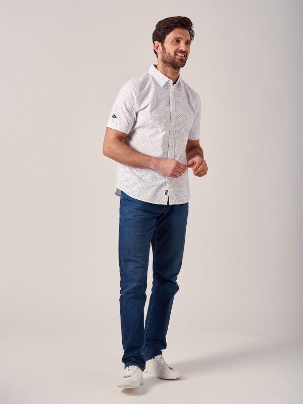 Woodfin WHITE Short Sleeve Shirt | Quba & Co