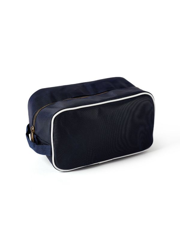 Wulf NAVY Square Wash Bag | Quba & Co Sailcloth Accessories