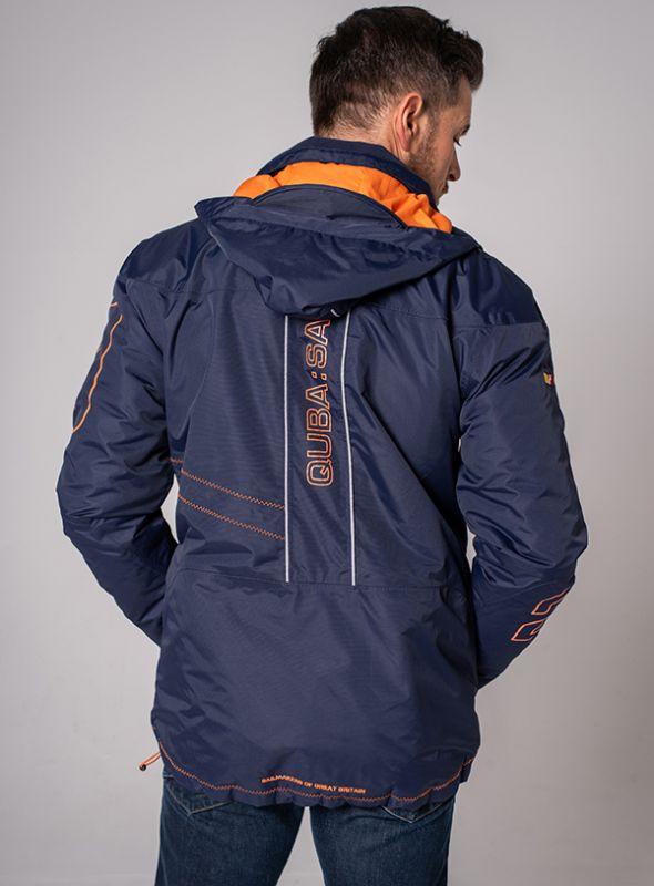 X10 Sport Mens Technical Sailing Jacket - Navy & Orange