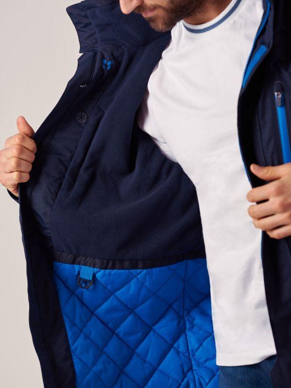 Mens NAVY New X10 Sport Waterproof Jacket | Quba & Co