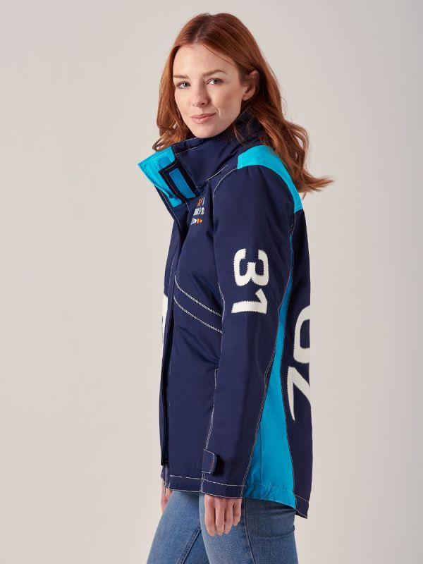Ladies NAVY AQUA New X10 Heritage Waterproof Jacket   Quba & Co