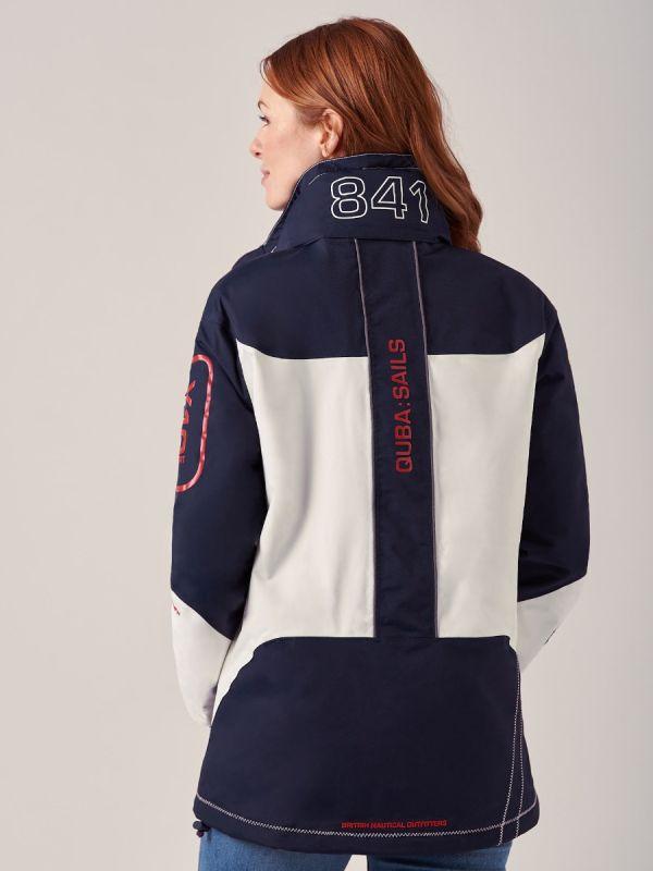 Ladies NAVY WHITE New X10 Sport Waterproof Jacket | Quba & Co