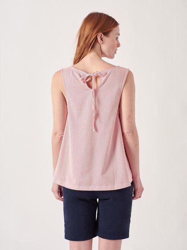 Zelda CAYENNE RED Tie Back Vest Top   Quba & Co