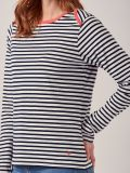 Adriana NAVY CAYENNE Long Sleeve T-Shirt   Quba & Co