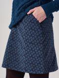 Cantrelle NAVY Printed Cord Skirt | Quba & Co