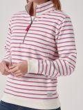 Celine WHITE Half Zip Sweatshirt   Quba & Co