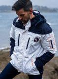 X10 Sport Mens Waterproof Sailing Jacket - White & Navy | Quba & Co