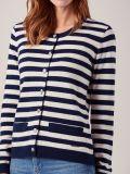 Ramona NAVY Striped Cardigan   Quba & Co